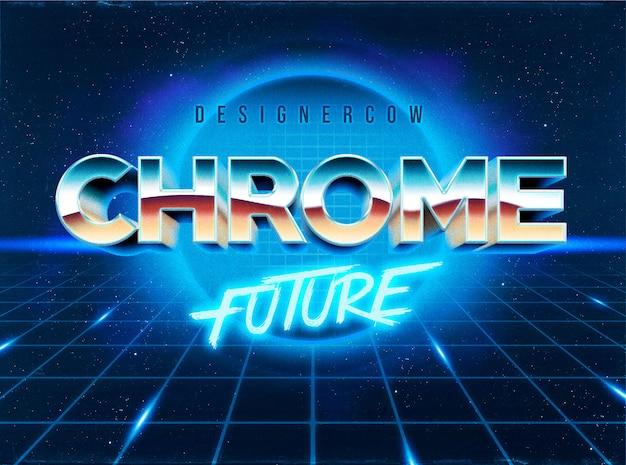 Estilo de capa de efectos de texto de los 80