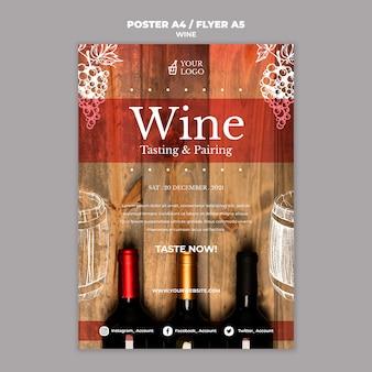 Estilo de cartel de cata de vinos
