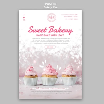 Estilo de cartel de panadería