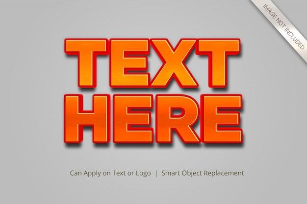 Estilo de efecto de texto 3d