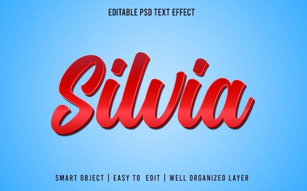 Estilo de efecto de texto editable de silvia
