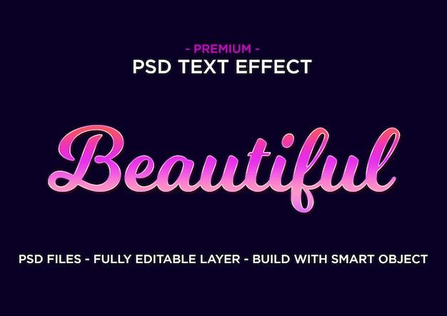 Estilo de efecto de texto. hermosa rosa púrpura.