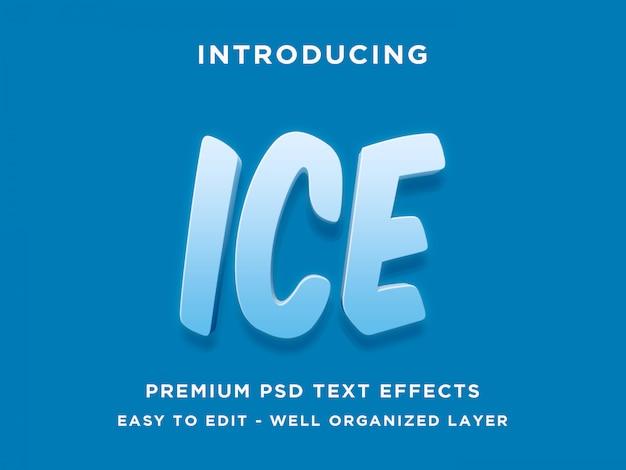 Estilo de efecto de texto de hielo