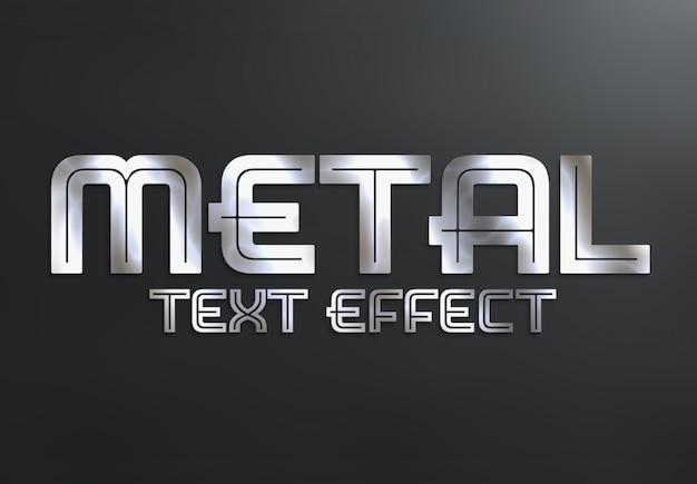 Estilo de efecto de texto de metal