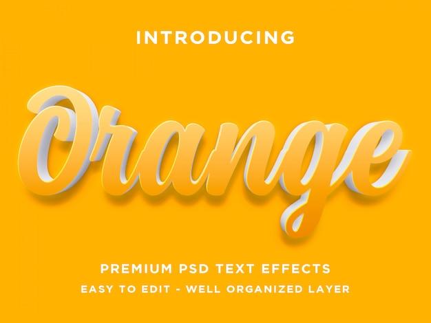 Estilo de efecto de texto naranja