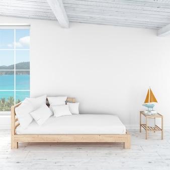 Estilo de habitación de cama interior moderno