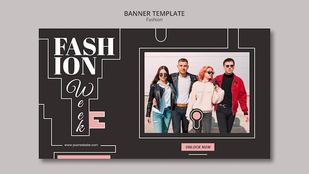Estilo de plantilla de banner de concepto de moda