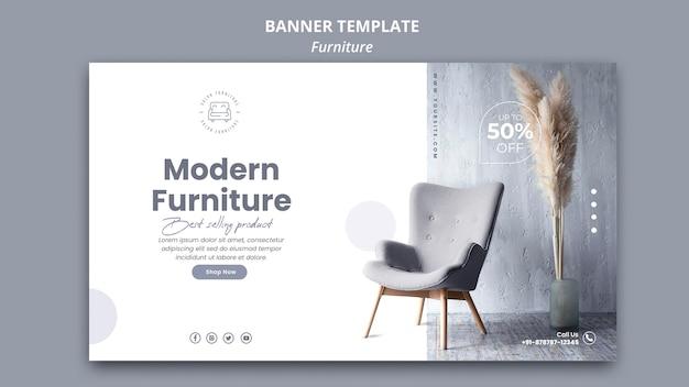Estilo de plantilla de banner de muebles