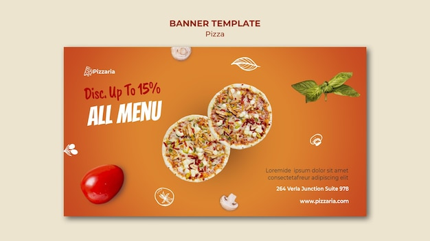 Estilo de plantilla de banner de pizza