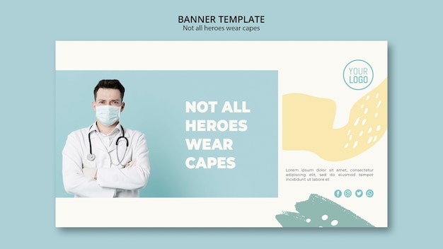 Estilo de plantilla de banner profesional médico
