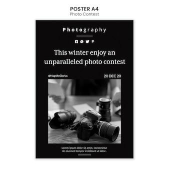 Estilo de plantilla de cartel de concurso de fotografía