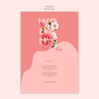 Estilo de plantilla de póster del día de la mujer