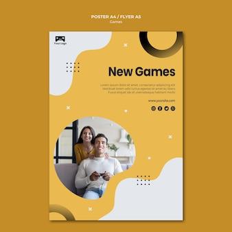 Estilo de plantilla de póster de juegos