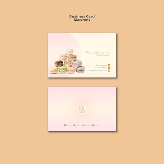Estilo de plantilla de tarjeta de visita macarons