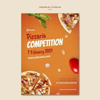 Estilo de plantilla de volante de pizza