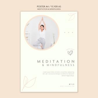 Estilo de póster de meditación y atención plena
