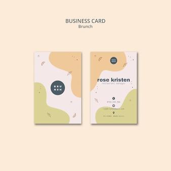 Estilo de tarjeta de presentación para un sabroso brunch