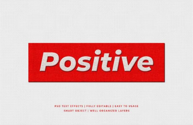 Estilo de texto 3d positivo
