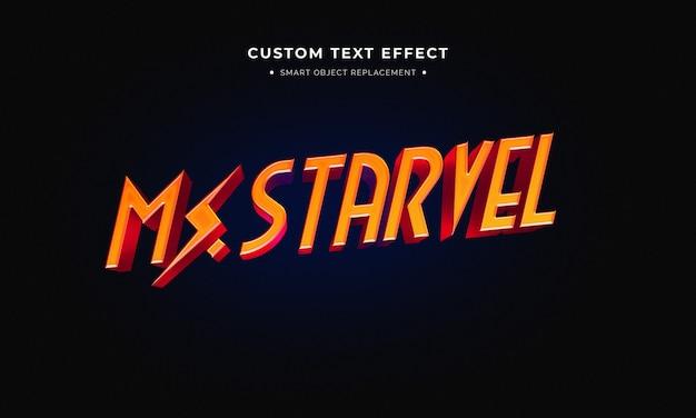 Estilo de texto 3d de superhéroe