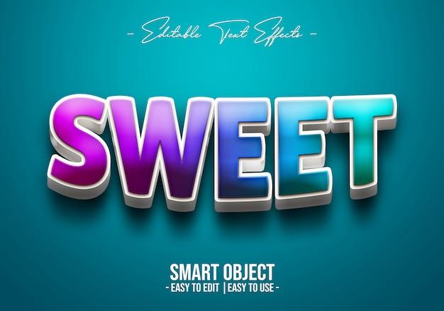Estilo de texto dulce 3d