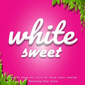 Estilo de texto dulce blanco