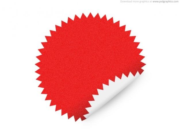 Estrella etiqueta forma