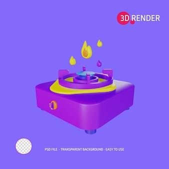 Estufa de icono de renderizado 3d