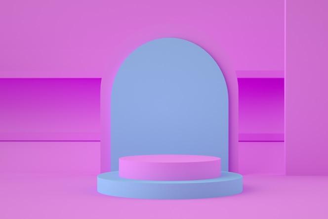 Etapa geométrica 3d holográfica para la colocación del producto.