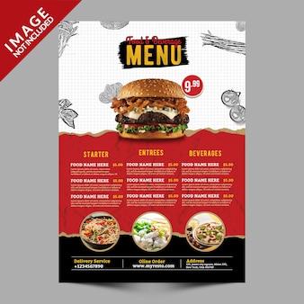 Eten en drinken menu