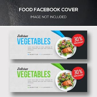 Eten facebook-covers voor veganistisch restaurant