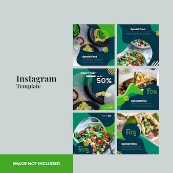 Eten instagram postsjabloon
