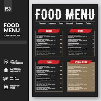 Eten menu flyer-sjabloon