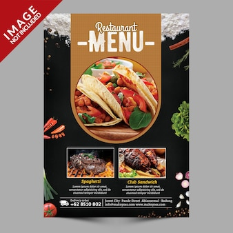 Eten menu flyer