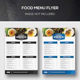 Eten menu flyer