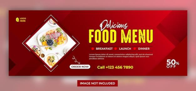 Eten menu social media facebook-bannersjabloon