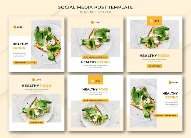 Eten online winkelen instagram postbundelsjabloon