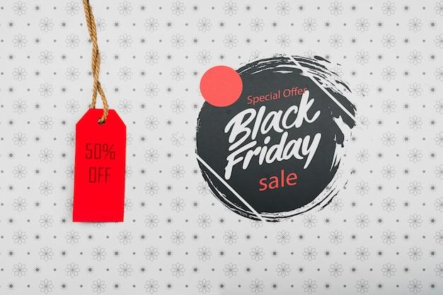 Etiqueta de precio del concepto de viernes negro