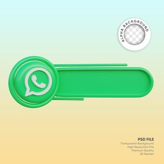 Etiqueta de redes sociales 3d whatsapp