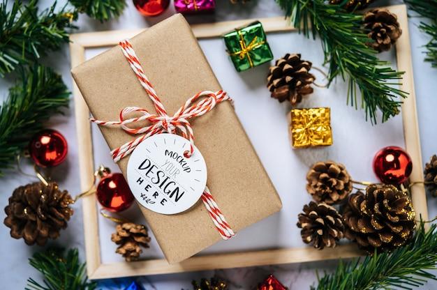 Etiqueta de regalo de navidad psd