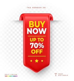 Etiqueta render 3d comprar ahora 70 de descuento en venta