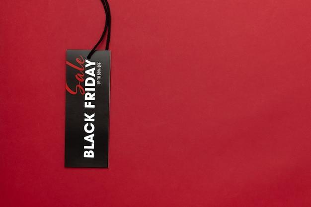 Etiqueta de venta con maqueta de campaña de black friday