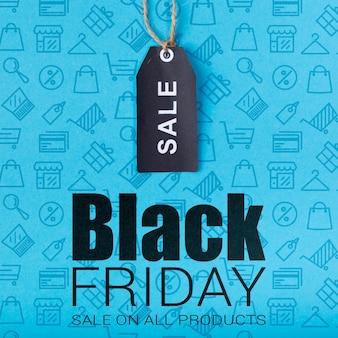 Etiqueta con ventas de viernes negro disponibles