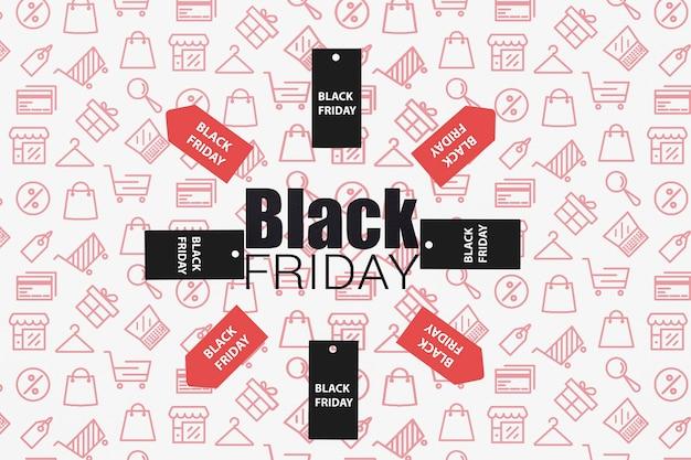 Etiquetas de colores con promoción de viernes negro