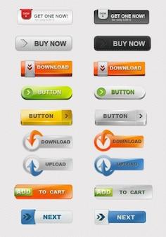 Etiquetas comerciales web coloridos psd