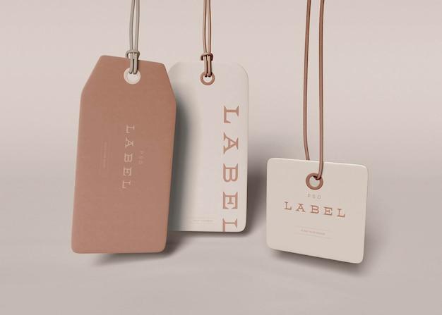 Etiquetas etiquetas mockups