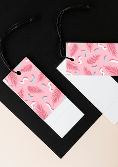 Etiquetas de marcadores coloridos diseño de maqueta