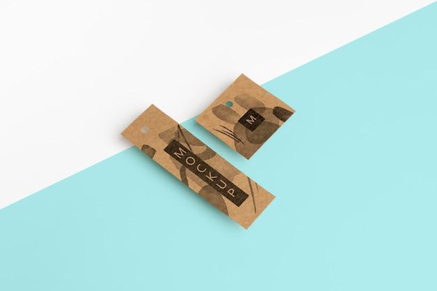 Etiquetas de suspensión artesanal de estilo isométrico