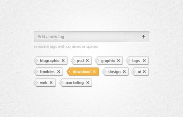 Etiquetas widget de addremove