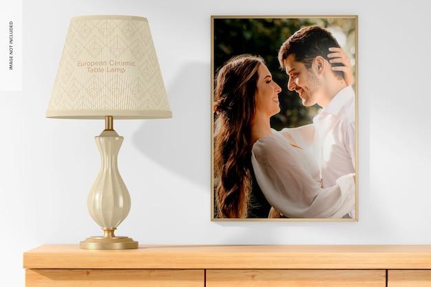 Europese keramische tafellamp met framemodel