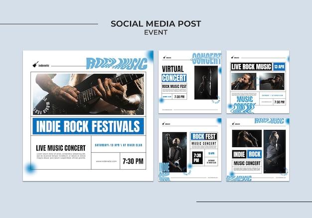 Evenement sociale media post sjabloon